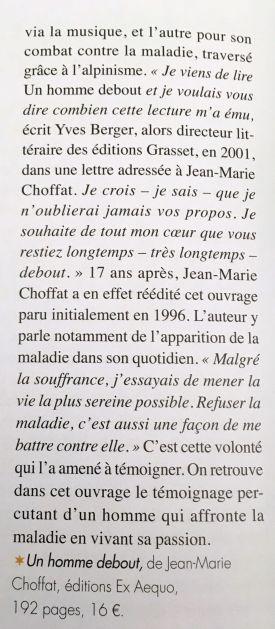 Un homme debout - Jean-Marie Choffat