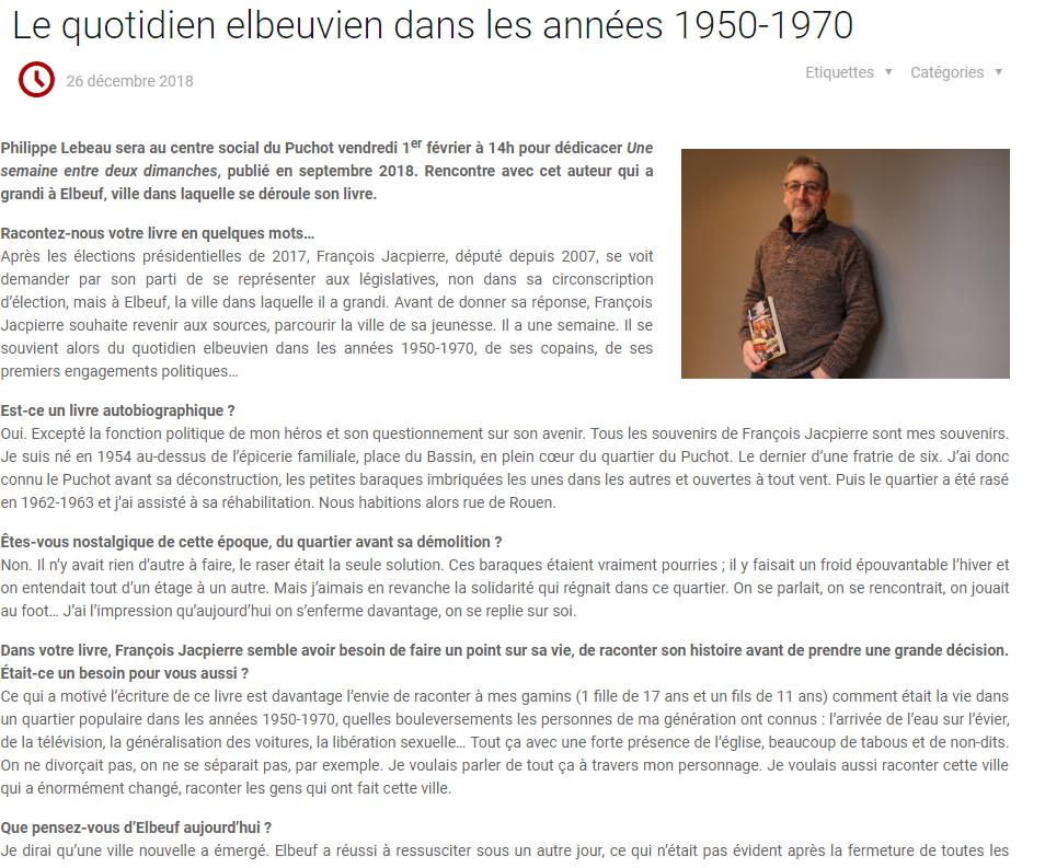 Article Philippe Lebeau