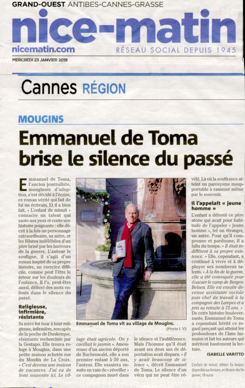 Article Emmanuel de Toma