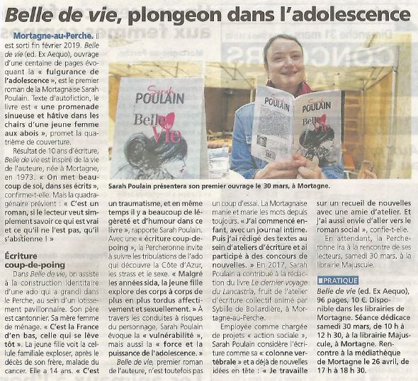 Article Sarah Poulain