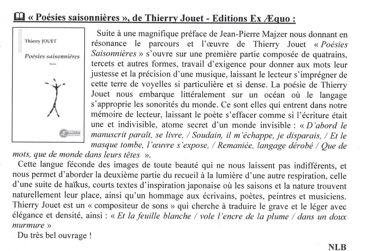 Article Thierry Jouet