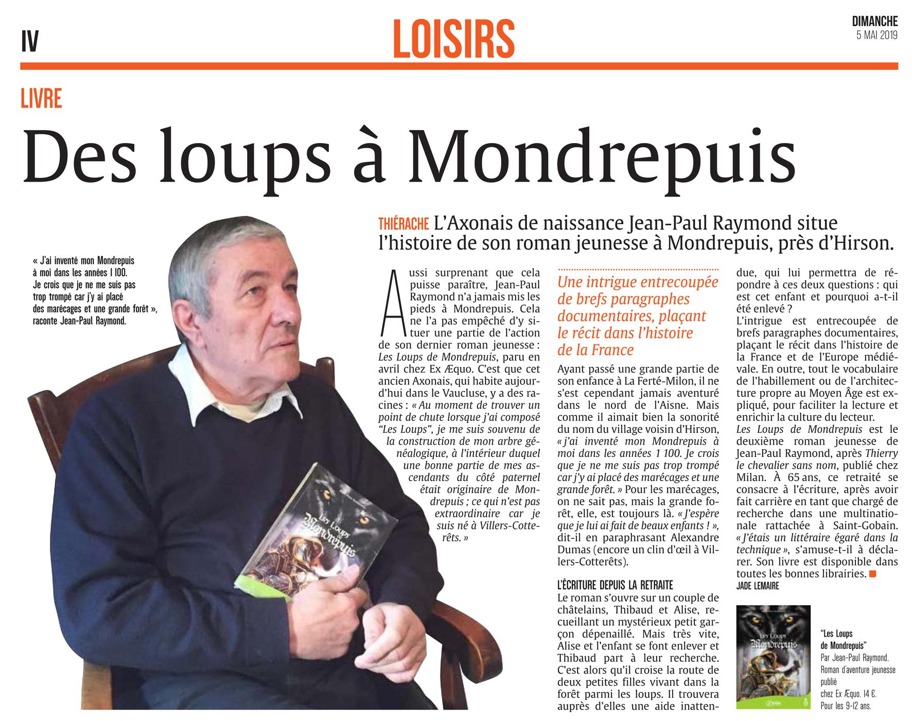 Les loups de Mondrepuis-article l'Union