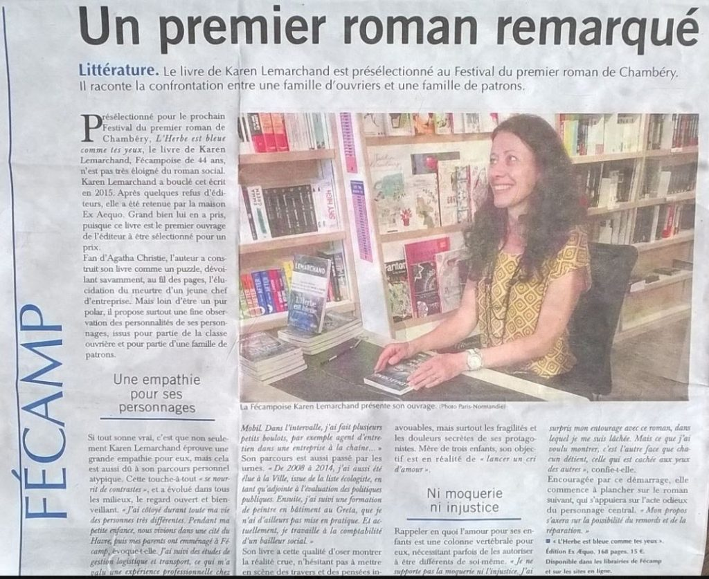 Karen Lemarchand article 1° roman