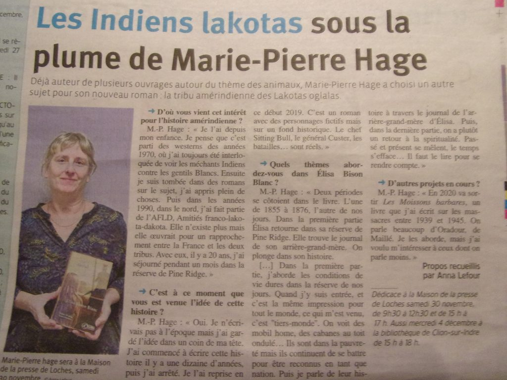 article Elisa Bison Blanc Marie-Pierre Hage