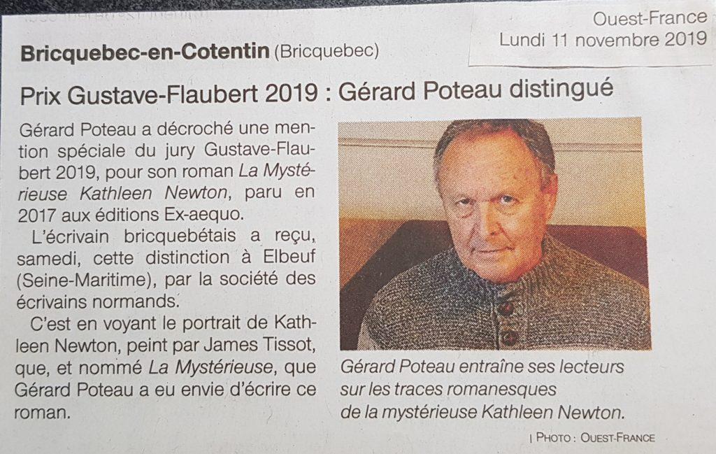 article de presse Gérard Poteau Ouest France Kathleen Newton