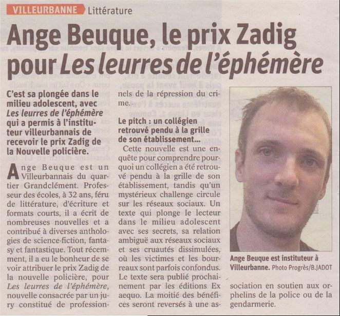 article Ange Beuque Le Progrès