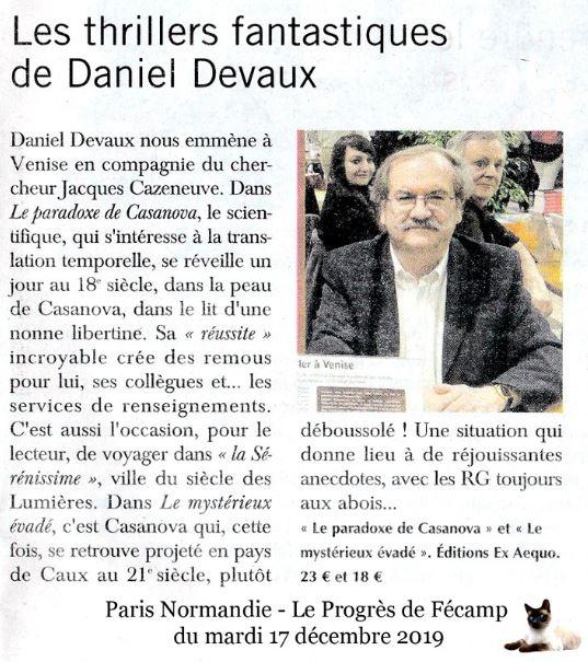 article Daniel Devaux Le mystérieux Evadé fantastique