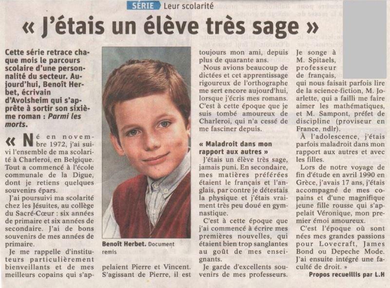 article Benoît Herbet - Parmi les Morts