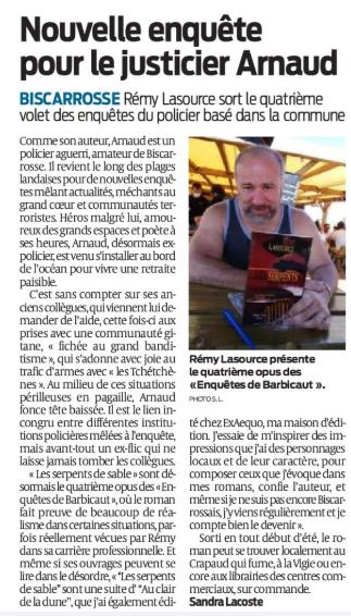 article Serpents de sable sud ouest