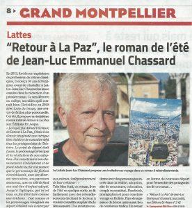 Midi Libre La Paz Jean-Luc Emmanuel Chassard