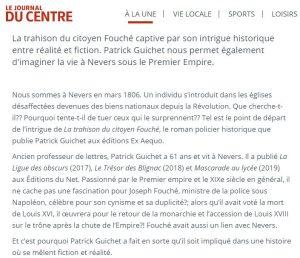 article La Trahison du Citoyen Fouché JDC