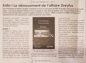 Article sur Enfin  dans l'Écho des Vosges du 15.04