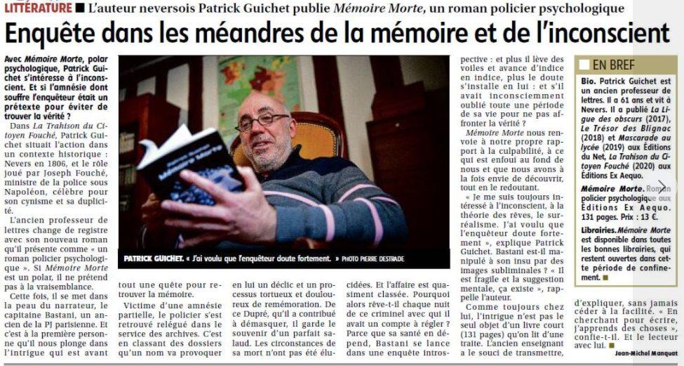 Article sur Mémoire morte JDC