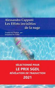 Les Effets invisibles de la nage - Alessandro Capponi - Aux Éditions Ex Æquo